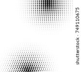 grunge halftone textured... | Shutterstock .eps vector #749110675