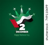 2 december. uae independence... | Shutterstock .eps vector #749110699