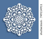 round lace doily  vector... | Shutterstock .eps vector #749114911