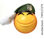 emoji army solider isolated on... | Shutterstock . vector #749117275