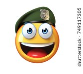 emoji army solider isolated on... | Shutterstock . vector #749117305