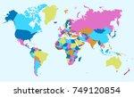 color world map vector. | Shutterstock .eps vector #749120854