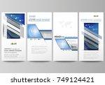 flyers set  modern banners.... | Shutterstock .eps vector #749124421