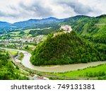 hohenwerfen castle or festung...   Shutterstock . vector #749131381