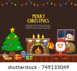 merry christmas and happy new... | Shutterstock .eps vector #749133049