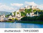 hohensalzburg castle or festung ...   Shutterstock . vector #749133085