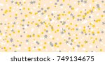 confetti and stars. sequins ... | Shutterstock .eps vector #749134675