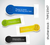 colorful set of speech bubbles. ... | Shutterstock .eps vector #74913547