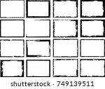 vector frames. rectangles for... | Shutterstock .eps vector #749139511