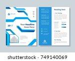 annual report  broshure  flyer  ... | Shutterstock .eps vector #749140069