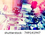 equipment  cables and piping as ... | Shutterstock . vector #749141947