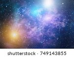 starry outer space | Shutterstock . vector #749143855