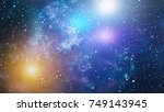 starry outer space | Shutterstock . vector #749143945
