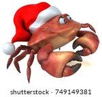 fun crab   3d illustration   Shutterstock . vector #749149381