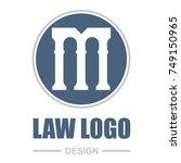 pillar logo design. letter m. | Shutterstock .eps vector #749150965