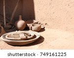 traditional clay pottery in the ... | Shutterstock . vector #749161225