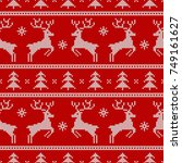 knitted seamless pattern with...   Shutterstock .eps vector #749161627