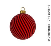christmas ball new year's eve... | Shutterstock . vector #749164549