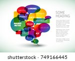 big speech bubble schema made... | Shutterstock .eps vector #749166445