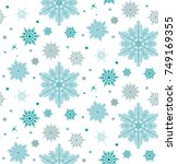 seamless pattern with flakes.... | Shutterstock .eps vector #749169355