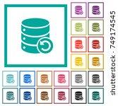 undo database changes flat... | Shutterstock .eps vector #749174545