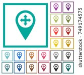 move gps map location flat... | Shutterstock .eps vector #749174575