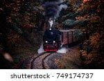 Steam Locomotive Drives Through ...