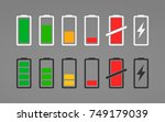 set of battery charge signs....