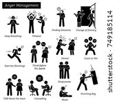 anger management stick figure... | Shutterstock .eps vector #749185114