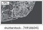 lisbon portugal map in retro... | Shutterstock .eps vector #749186041