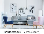 elegant white room with vintage ...