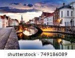 bruges cityscape  belgium | Shutterstock . vector #749186089