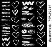 chalk vector textures....   Shutterstock .eps vector #749191369