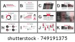 business presentation slides... | Shutterstock .eps vector #749191375