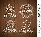 vector set of holidays... | Shutterstock .eps vector #749193619