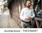 bearded man | Shutterstock . vector #749196097