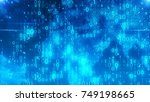a holographic 3d illustration... | Shutterstock . vector #749198665