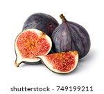 fresh figs on white background   Shutterstock . vector #749199211