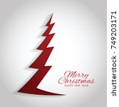 merry christmas cards. | Shutterstock .eps vector #749203171