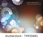 abstract flowery background... | Shutterstock .eps vector #74920681