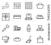 thin line icon set   chemical... | Shutterstock .eps vector #749214295