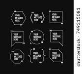 innovative vector quotation... | Shutterstock .eps vector #749215081