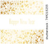 happy new year and merry... | Shutterstock .eps vector #749215255