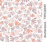floral pattern in doodle style ... | Shutterstock . vector #749218345