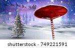 digital composite of wooden...   Shutterstock . vector #749221591
