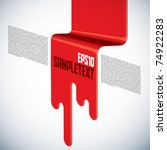 vector layout design on spilled ... | Shutterstock .eps vector #74922283