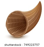 Brown Wicker Empty Cornucopia...