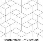 black and white seamless... | Shutterstock .eps vector #749225005