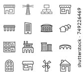 thin line icon set   shop ... | Shutterstock .eps vector #749226469