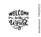 hand drawn lettering welcome to ... | Shutterstock .eps vector #749229211